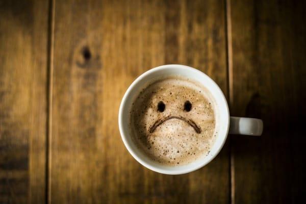 sad face coffee