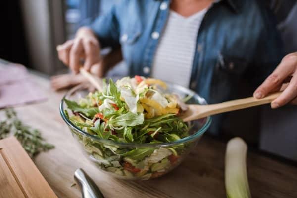 crisp green salad