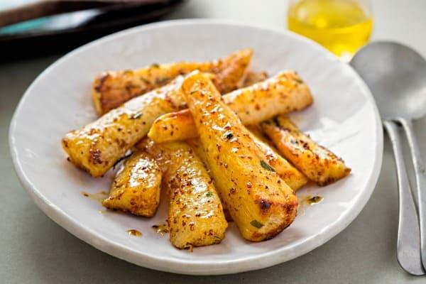 honey mustard roasted parsnips