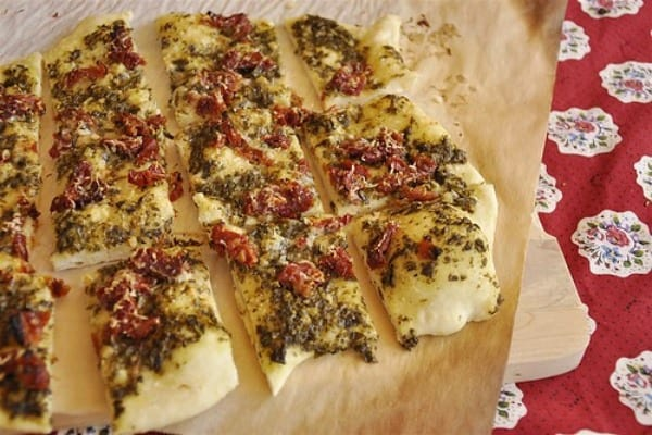 sun dried tomatoes and herbs