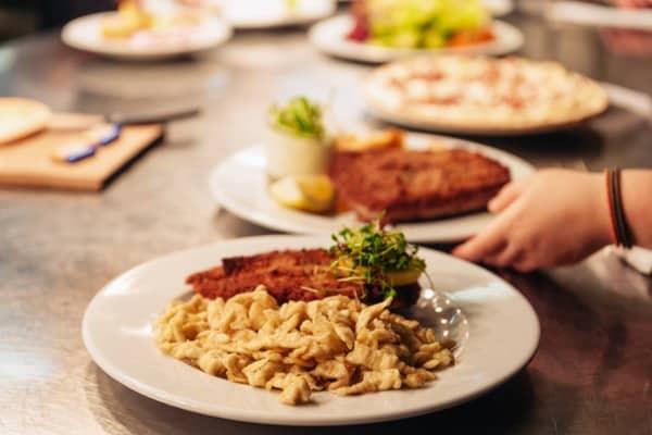 Schnitzel and Spaetzle