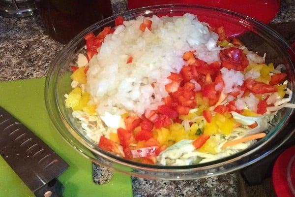 spicy vinegar coleslaw