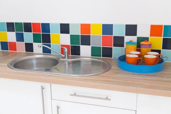 multi-colored-backsplash