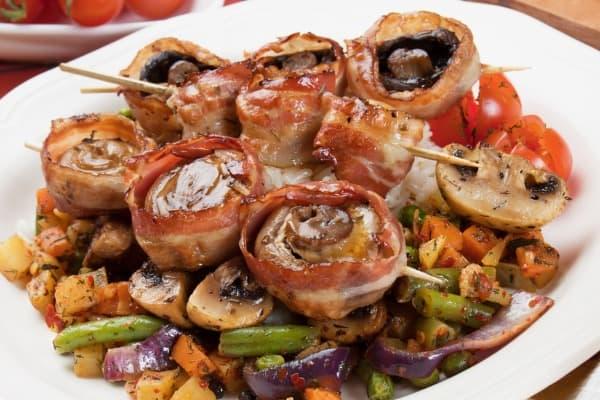 Balsamic Portobello Mushroom Skewers