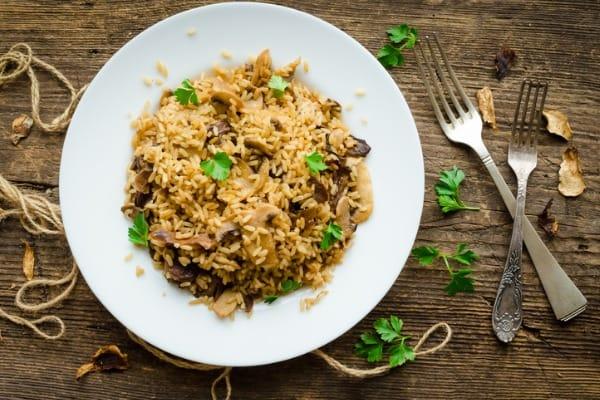 Mushroom and Herb Rice Pilaf