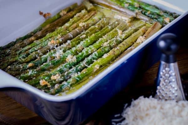 Oven Roasted Parmesan Lemon Asparagus