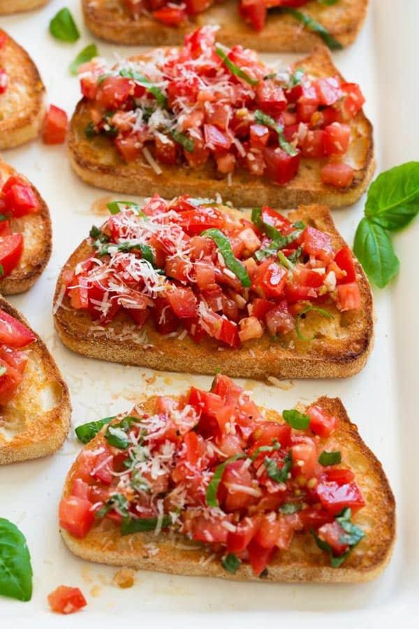 Refreshing Vine Ripened Tomato Bruschetta