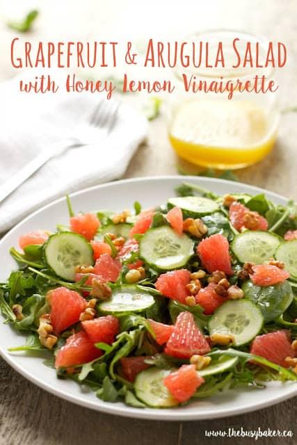 Vibrant Grapefruit and Arugula Salad with Vinaigrette