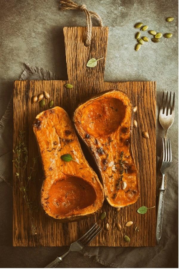 baked pumpkin or butternut squash