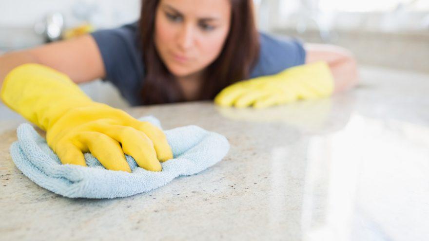 bleach in the kitchen