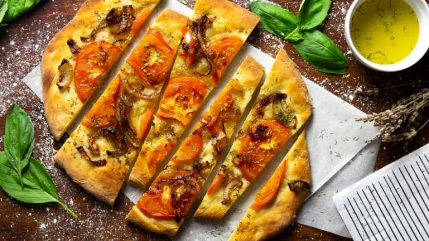 Focaccia toppings