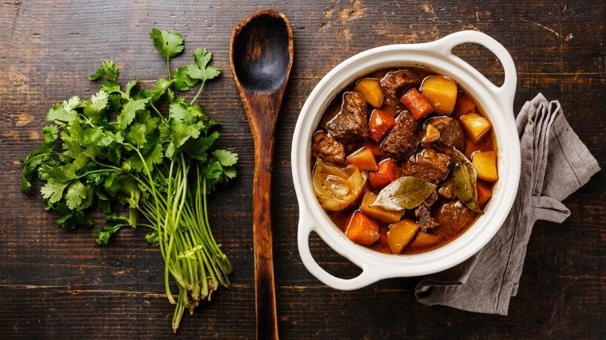 Beef Bourguignon meal
