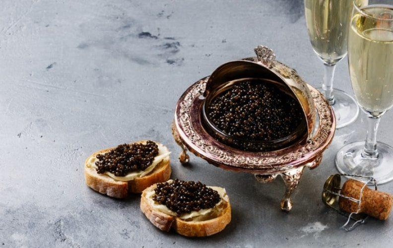 How to serve caviar