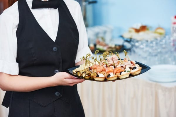 catering waitress service woman at restaurant event
