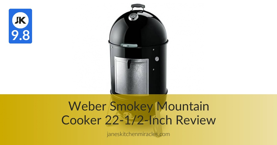 Weber Smokey Mountain Cooker 22 1 2 Inch