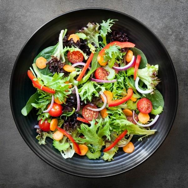 garden salad overhead view