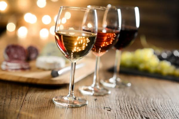 glass red wine italian meal