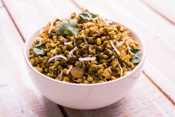 green gram or moong dal usal or salad
