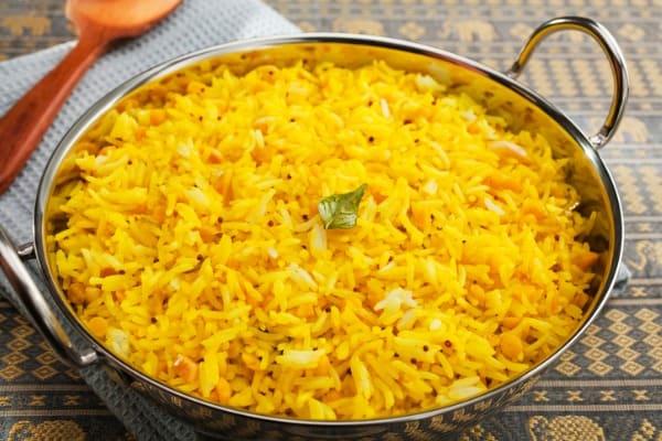 indian meal food cuisine curry lemon rice