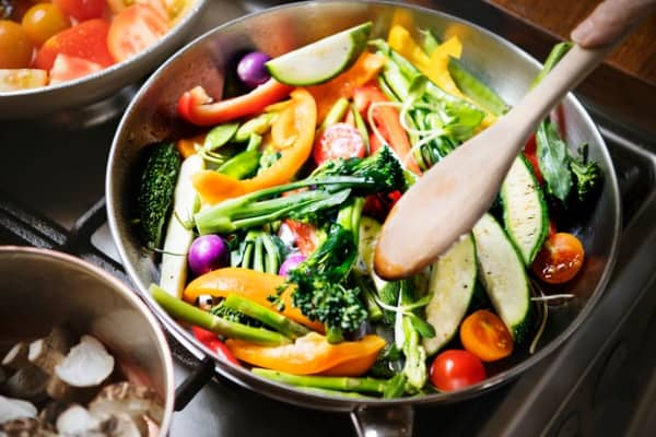 sauted mixed vegetables food photography recipe idea