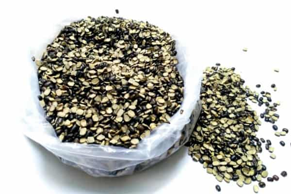 split black lentil also know as black gram black urad dal vigna mungo