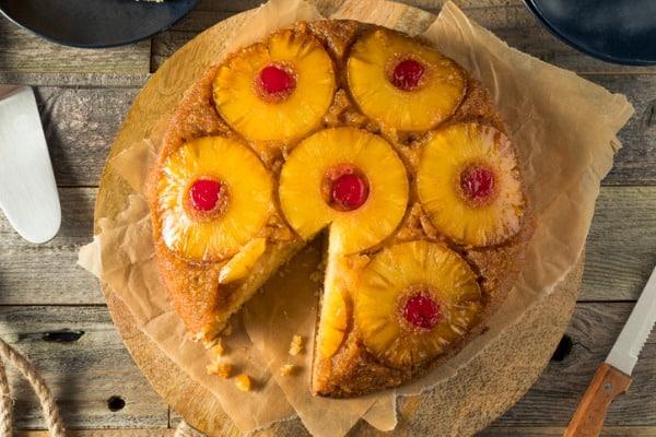 sweet homemade pineapple upside down cake